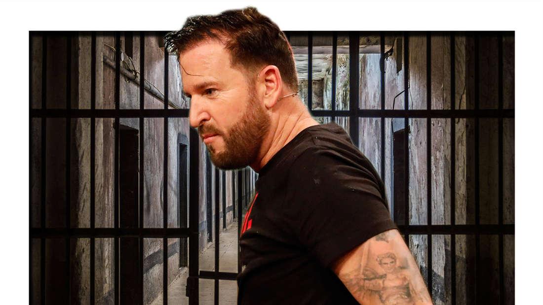 Michael Wendler vor einer Gefängniszelle (Fotomontage)