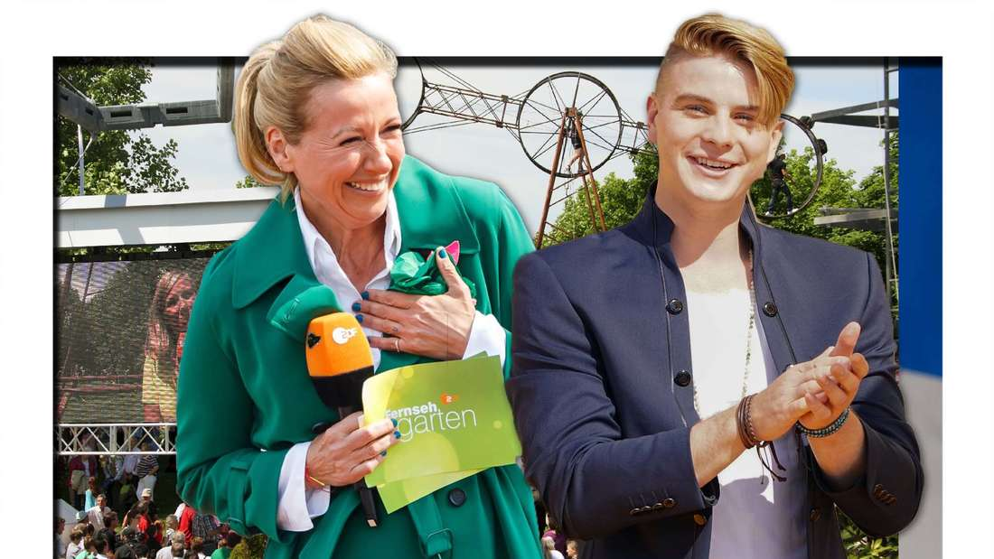 """""""Unfassbar tolle Perle"""": Vincent Gross schwärmt von Fernsehgarten-Star Andrea Kiewel (Fotomontage)"""
