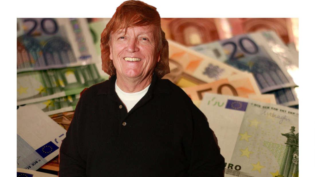 Frank Farian vor etlichen Geldscheinen. (Fotomontage)