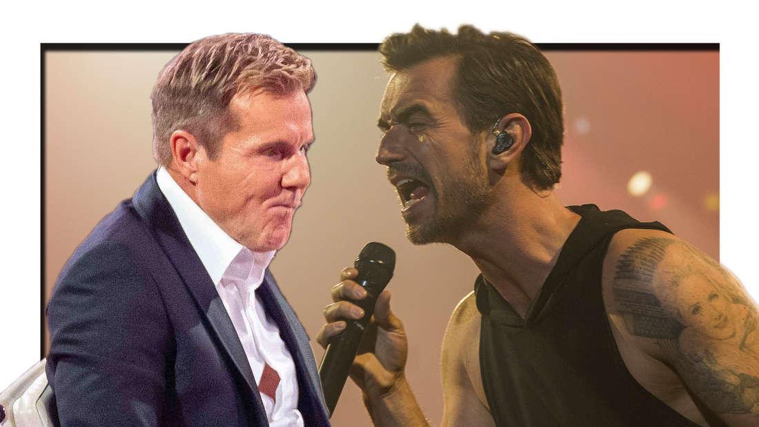 """Dieter Bohlen bei """"Das Supertalent"""", Florian Silbereisen singt (Fotomontage)"""