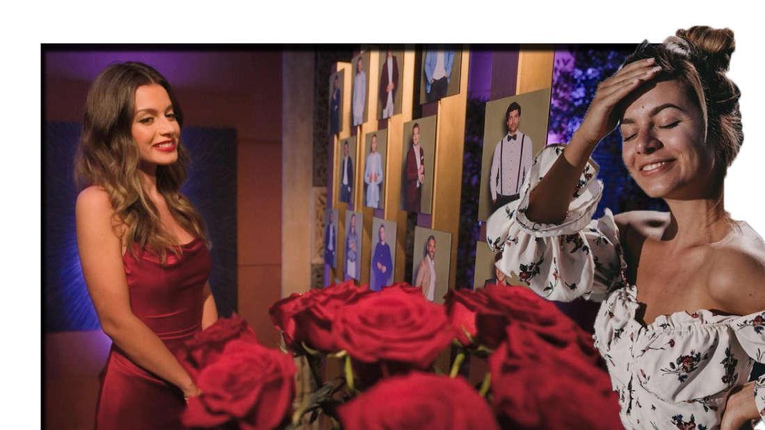 Maxime schaut in die Kamera - daneben ist sie bei der Nacht der Rosen zu sehen (Fotomontage)