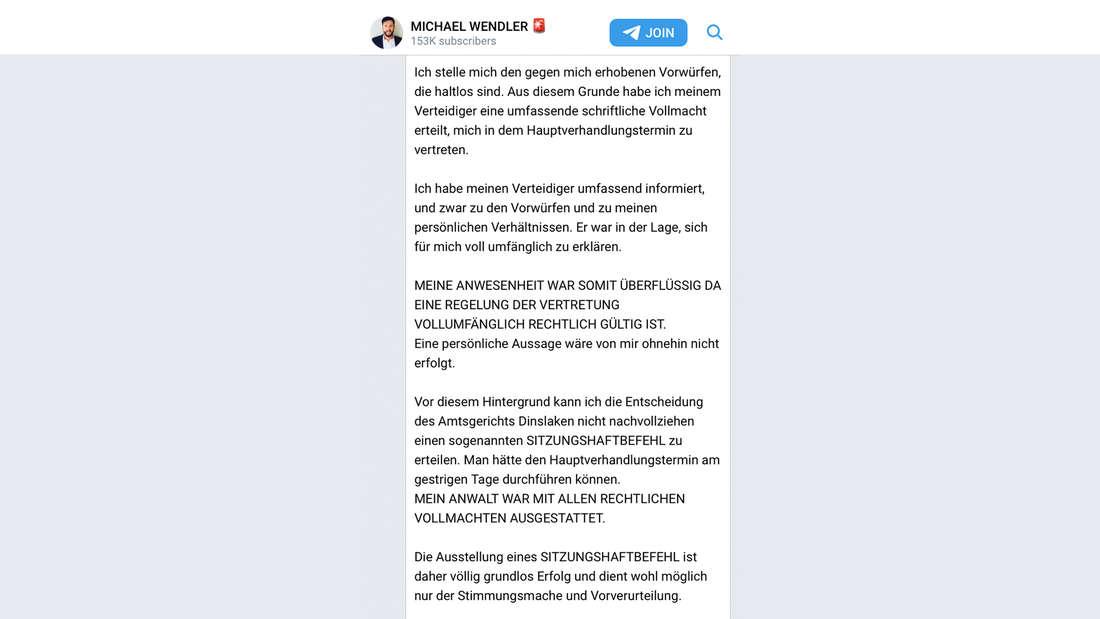 Michael Wendler wehrt sich gegen den Haftbefehl in Dinslaken