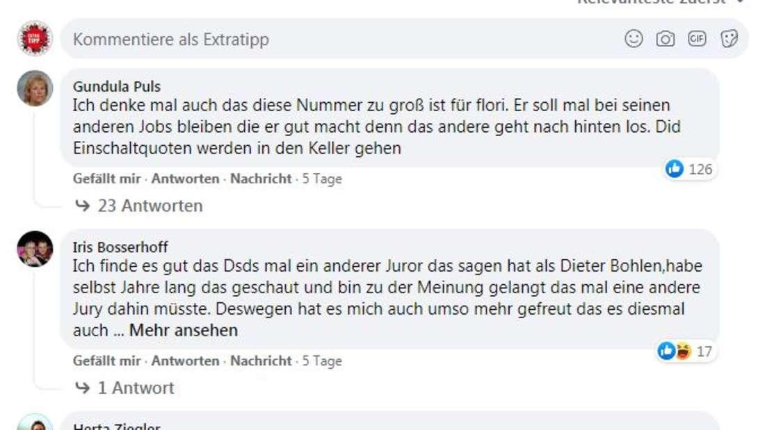 Die Meinungen im Netz über Florian Silbereisen bei DSDS sind gespalten.