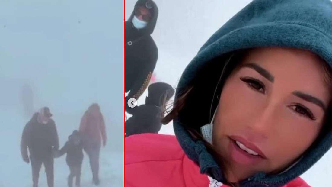 Sarah, Pietro und Alessio auf Gletscher-Tour: Diese Fotos dürften Fans glücklich machen. (Fotomontage)