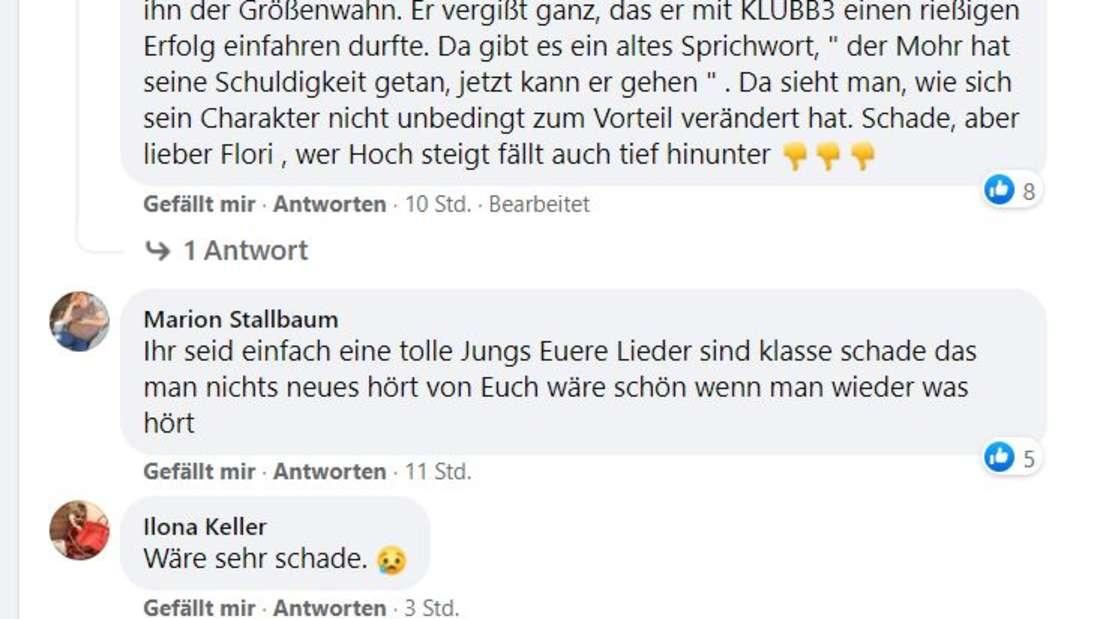 Fans kommentieren wütend auf Facebook