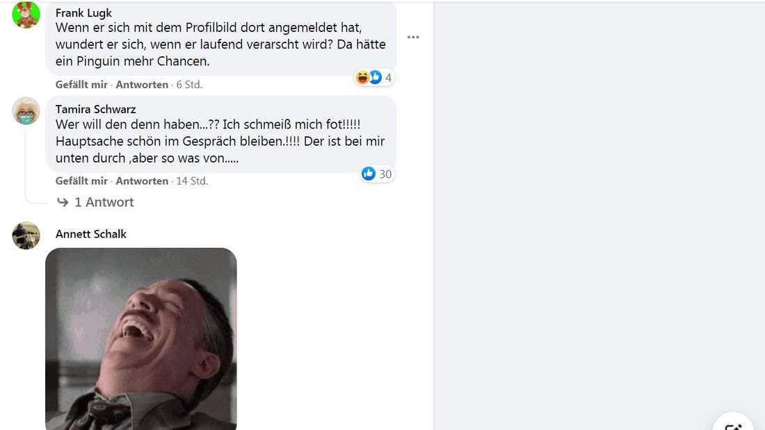 """""""Wer will den denn haben...?"""", kommentiert Facebook-Userin Tamira Schwarz zur Tinder-Beichte von Andrej Mangold."""