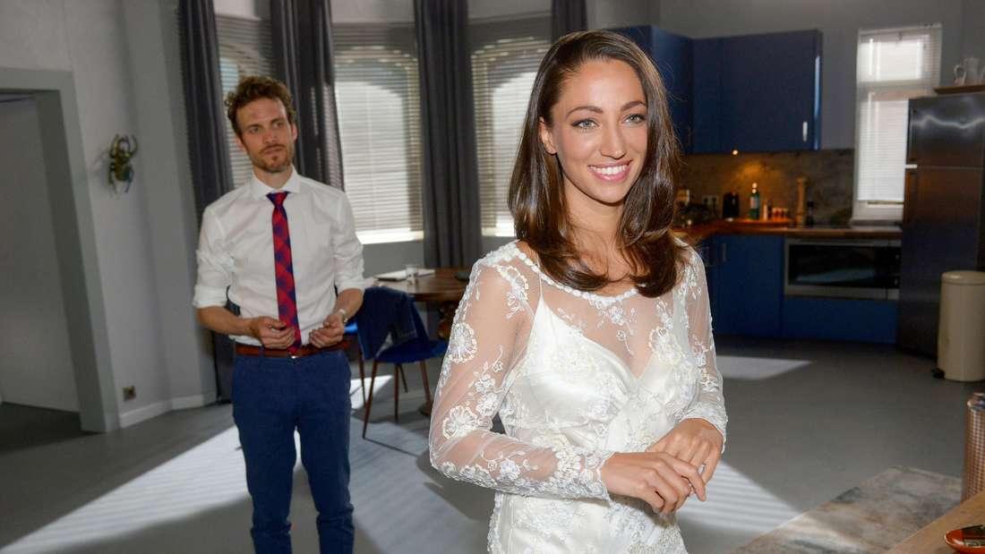 Felix (Thaddäus Meilinger) und Nazan (Vildan Cirpan) wollen bei GZSZ heiraten.