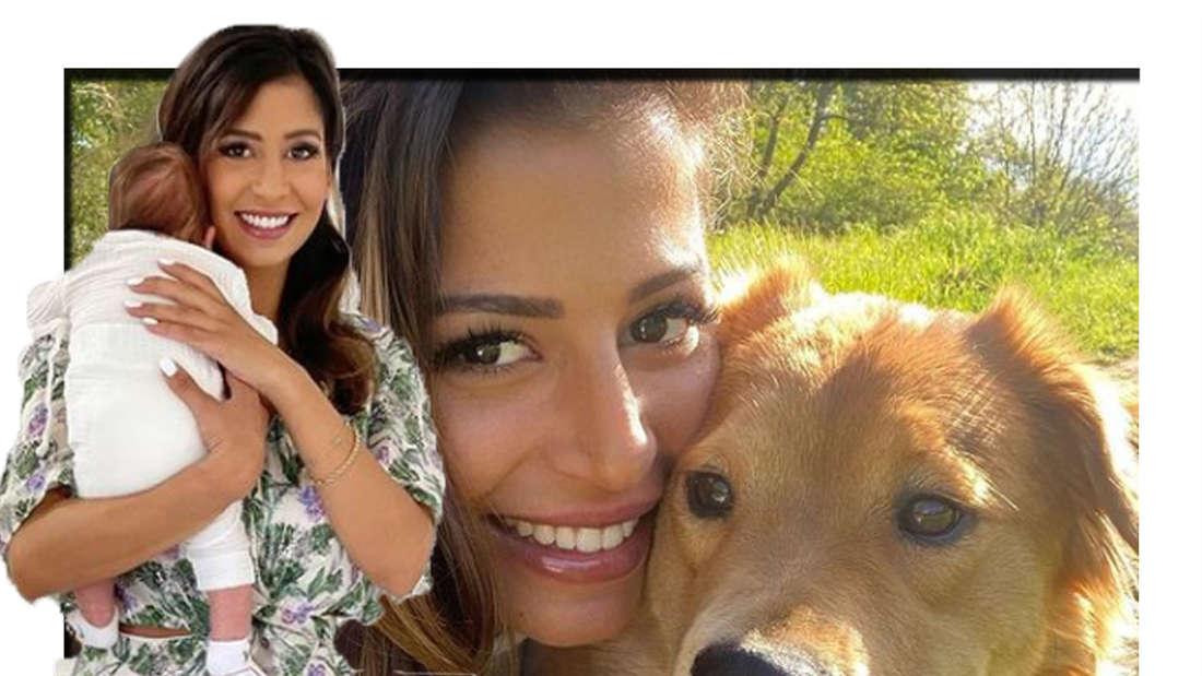 Eva Benetatou mit Sohn George - im Hintergrund sieht man ihren Hund Sheikha (Fotomontage)