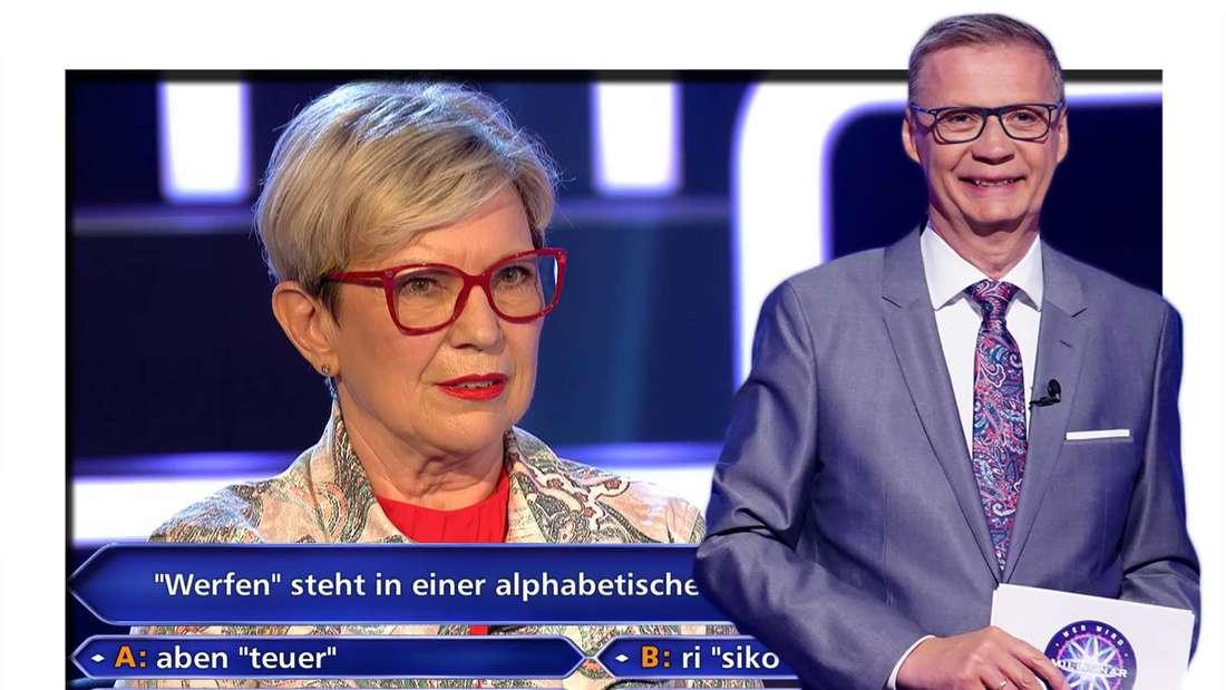 Fotomontage: WWM-Kandidatin Annemarie Strubel und Günther Jauch