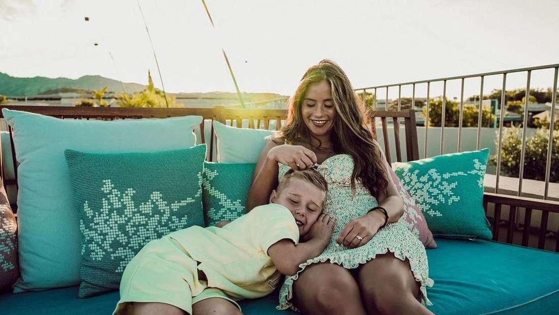 Sarah Engels mit Sohn Alessio
