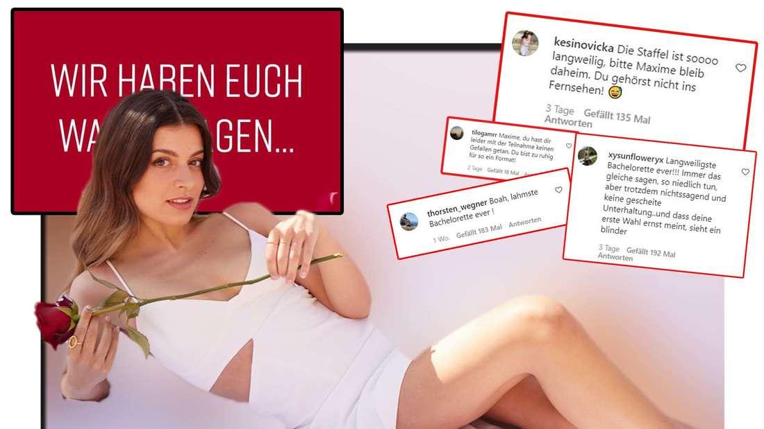 Fotomontage: Bachelorette Maxime Herbord, Kommentare von Instagram, sowie Statement von RTL