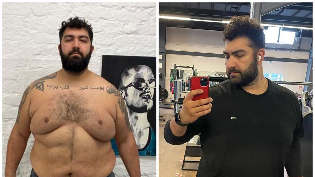 21 Kilogramm weniger: Komiker Faisal Kawusi hat in den letzten Monaten ordentlich abgespeckt. Das Ergebnis präsentierte er nun stolz mit einem Vorher-Nachher-Bild auf Instagram.