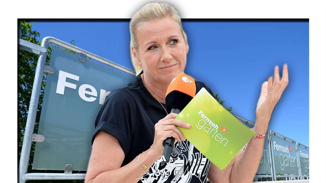 Fotomontage: Andrea Kiewel und ZDF-Fernsehgarten Poster