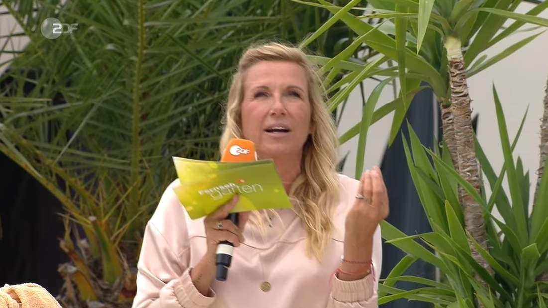 Andrea Kiewel moderiert im ZDF-Fernsehgarten