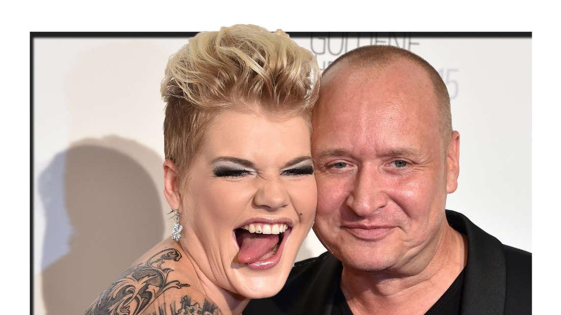 Melanie Müller und Mann Mike (Fotomontage)