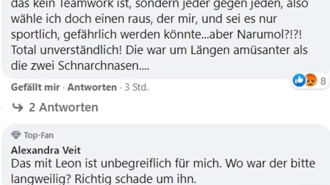 Screenshot von Kommentaren auf Facebook