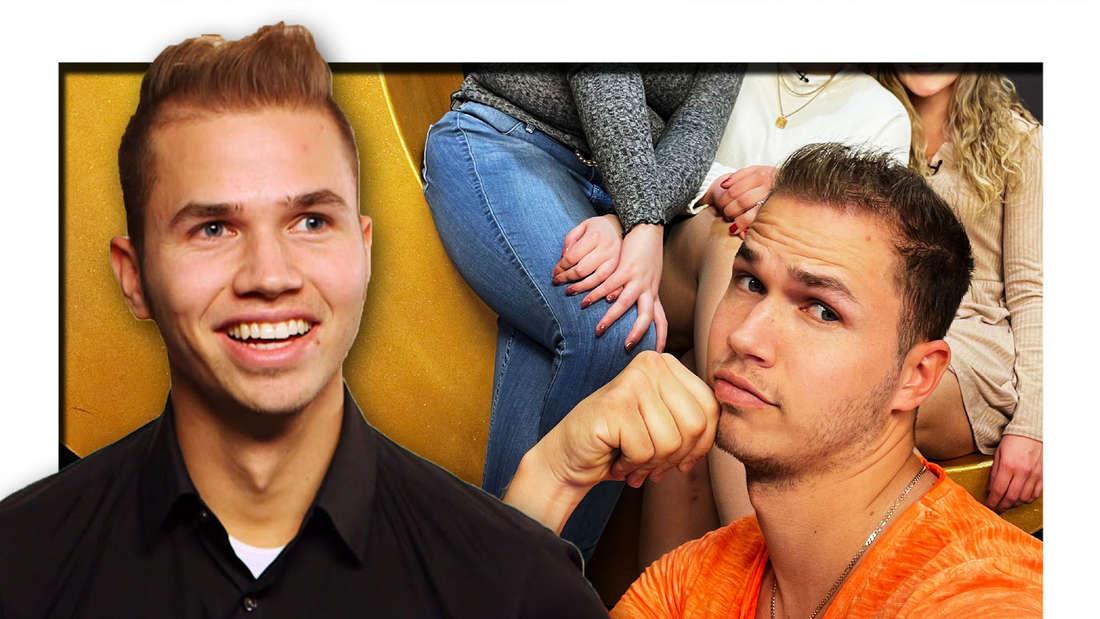 Fotomontage: Vorn Nic bei First Dates, hinten bei Schwiegertochter gesucht