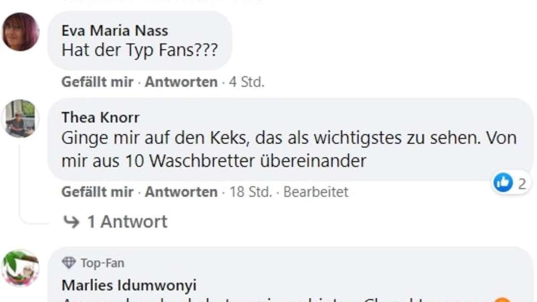 Screenshot von Facebook-Kommentaren