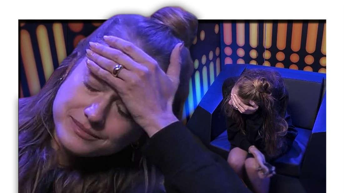 Fotomontage: Mimi Gwozdz weint im Einzelinterview bei Promi Big Brother