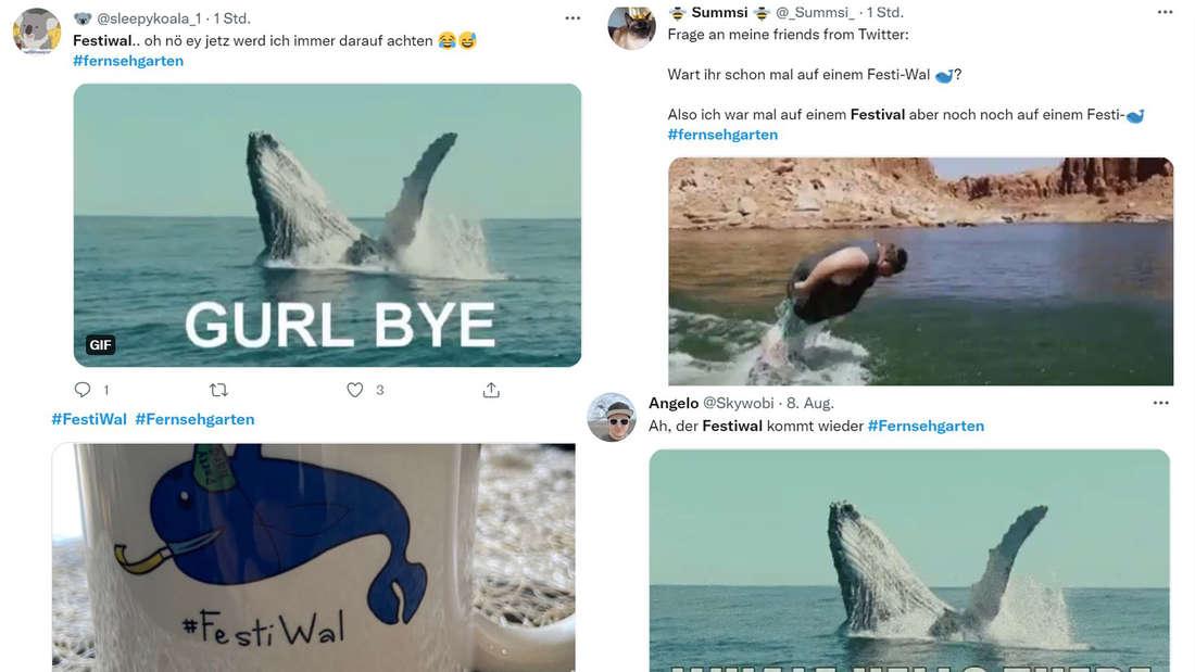 Twitter Beiträge mit Bildern von Walen