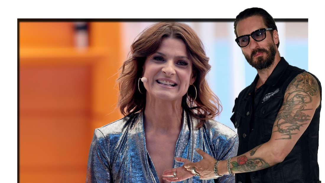 Eigentlich verheiratet: Boss-Hoss-Star Alec Völkel flirtet online mit Marlene Lufen (Fotomontage)