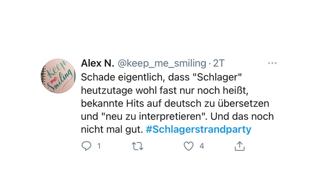 Twitter-Reaktion auf Florian Silbereisens Schlagerstrandparty am 14.08.2021