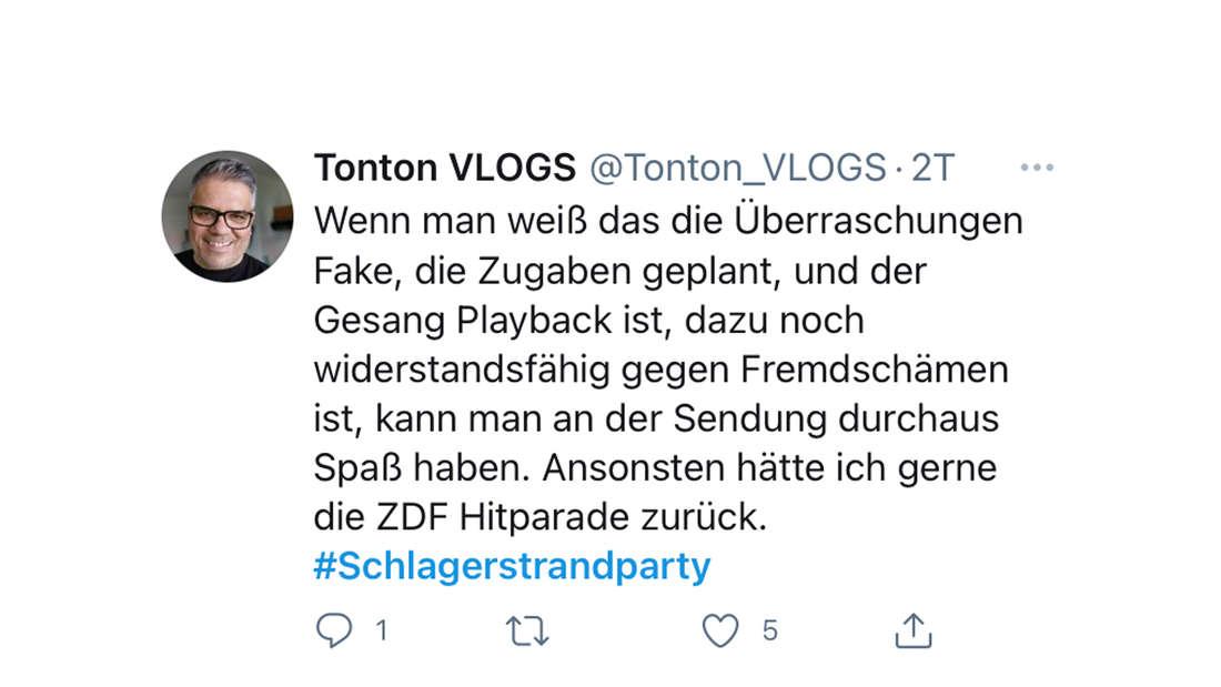 Twitter-Reaktion auf Florian Silbereisens Schlagerstrandparty am 14.08.2021: Dieser Fan ist sichtlich unzufrieden