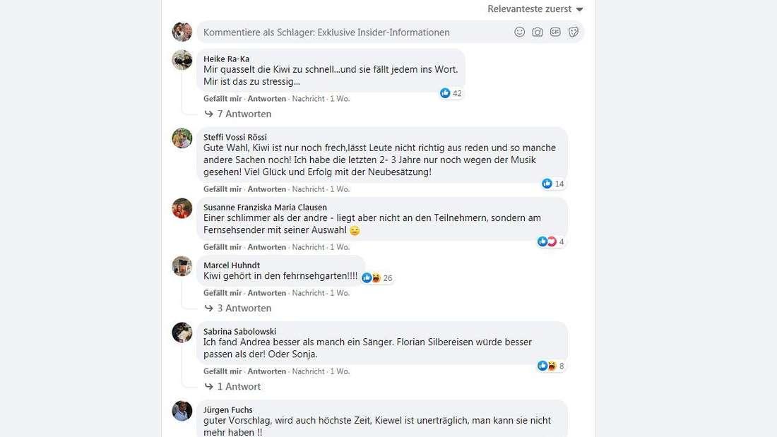 Auf der Facebookseite Schlagerinsider diskutieren die ZDF-Zuschauer über einen möglichen Nachfolger von Andrea Kiewel.