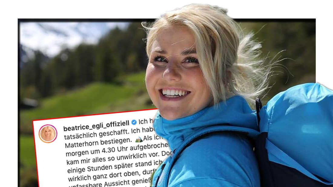 Schlagersängerin Beatrice Egli erzählt in ihrer Instagram-Story von ihrem Matterhorn-Aufstieg