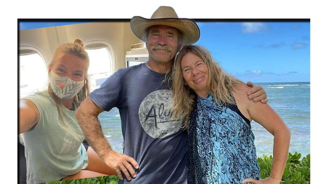 Manu Reimann lässt ihren Mann Konny auf Hawaii zurück, während sie aufs Festland fliegt. (Fotomontage)