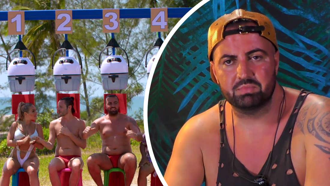 """Fotomontage: links die Teilnehmer beim Spiel """"Privatinsolvenz"""", rechts Cosimo Citiolo"""