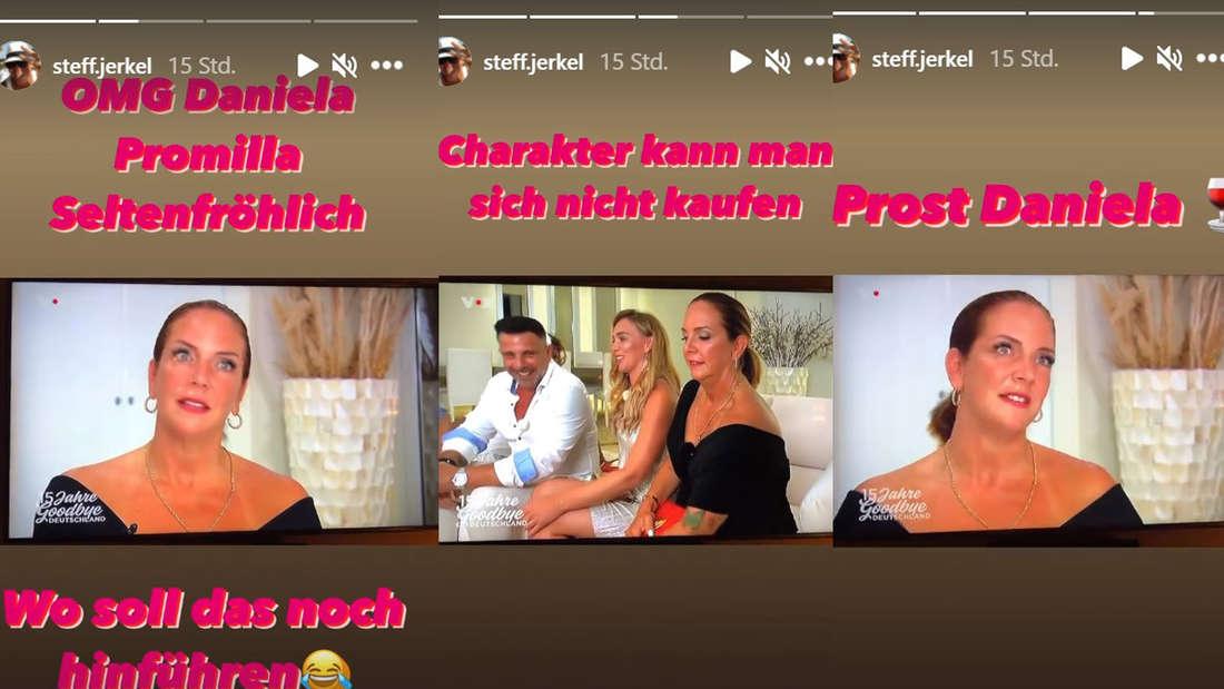 Instagram-Story von Steff Jerkel mit Bildern von Danni Büchner