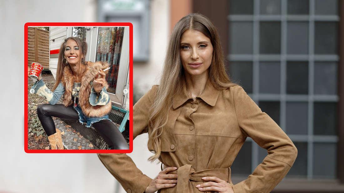 Im Assi-Look mit Kippe in der Hand: Cathy Hummels ergattert nächste TV-Rolle (Fotomontage)