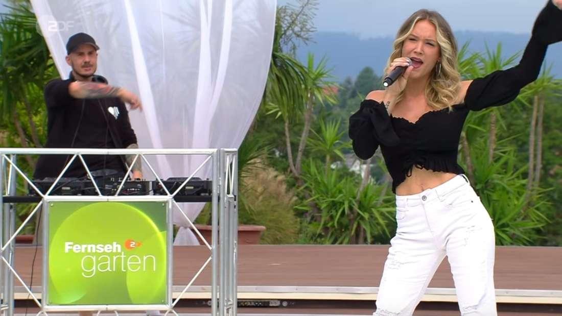 Schlagersängerin Sonia Liebing und DJ Herzbeat treten im ZDF-Fernsehgarten (22.August) auf