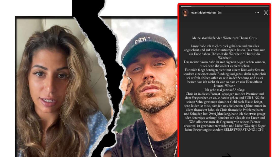 Fotomontage: Eva Benetatou und Chris Broy mit Screenshot von Instagram-Story
