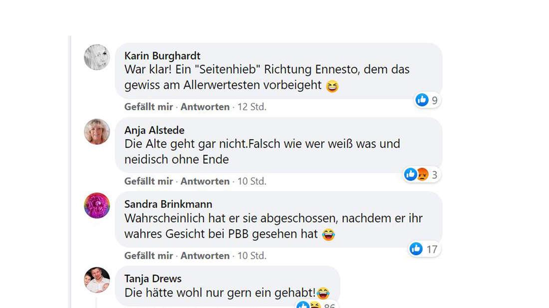 Screenshot Facebook-Kommentare