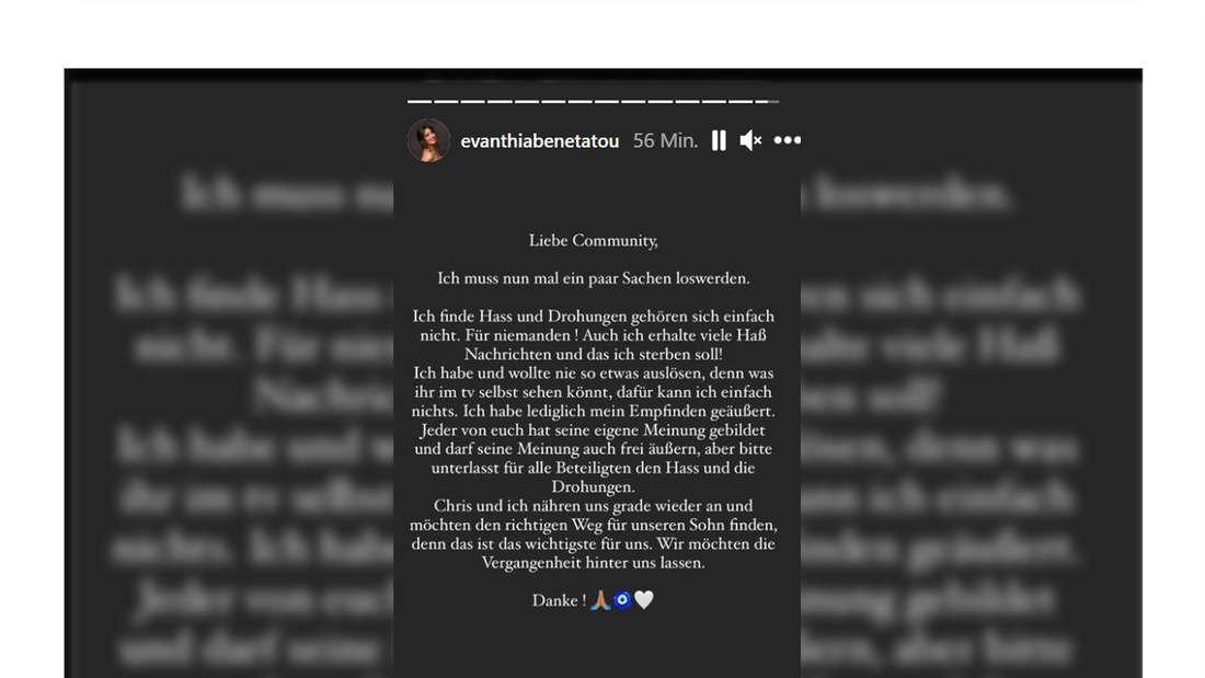 Eva Benetatous jüngstes Statement bei Instagram