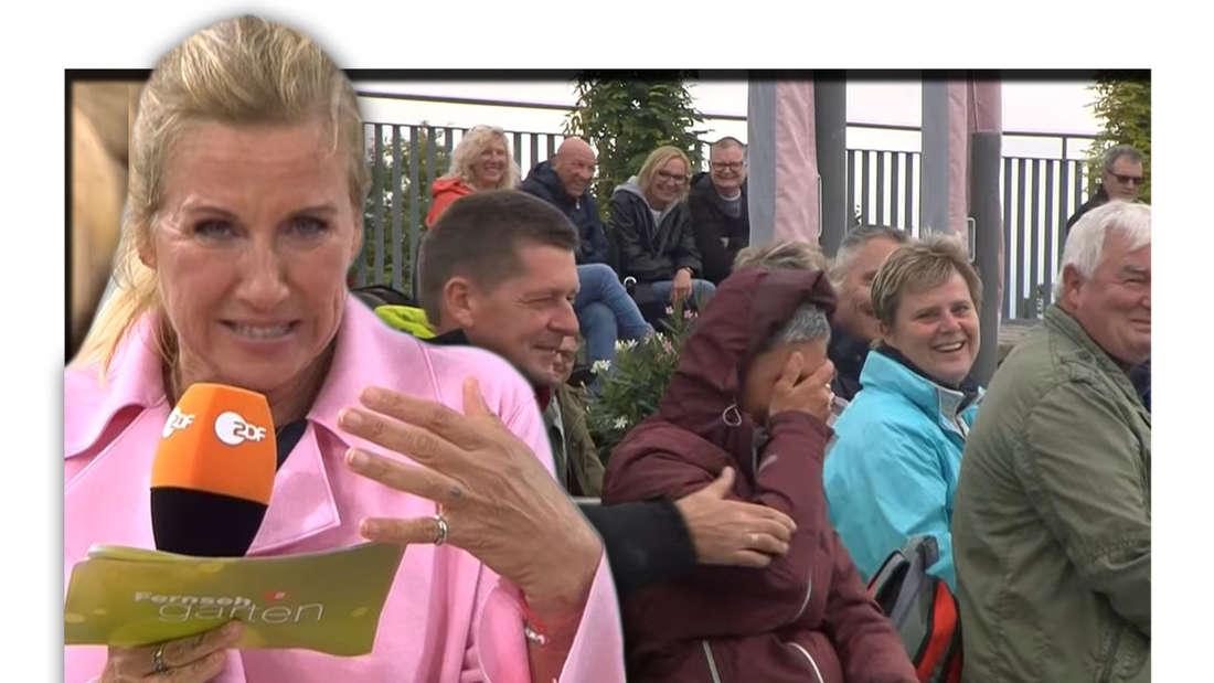 Andrea Kiewel und Publikum im ZDF Fernsehgarten