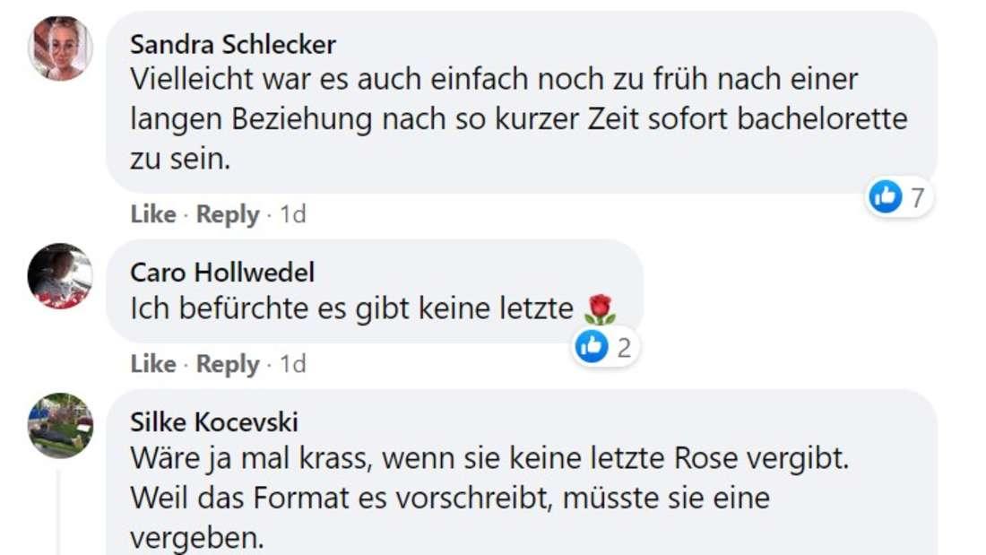 Screenshot von Facebook Kommentaren