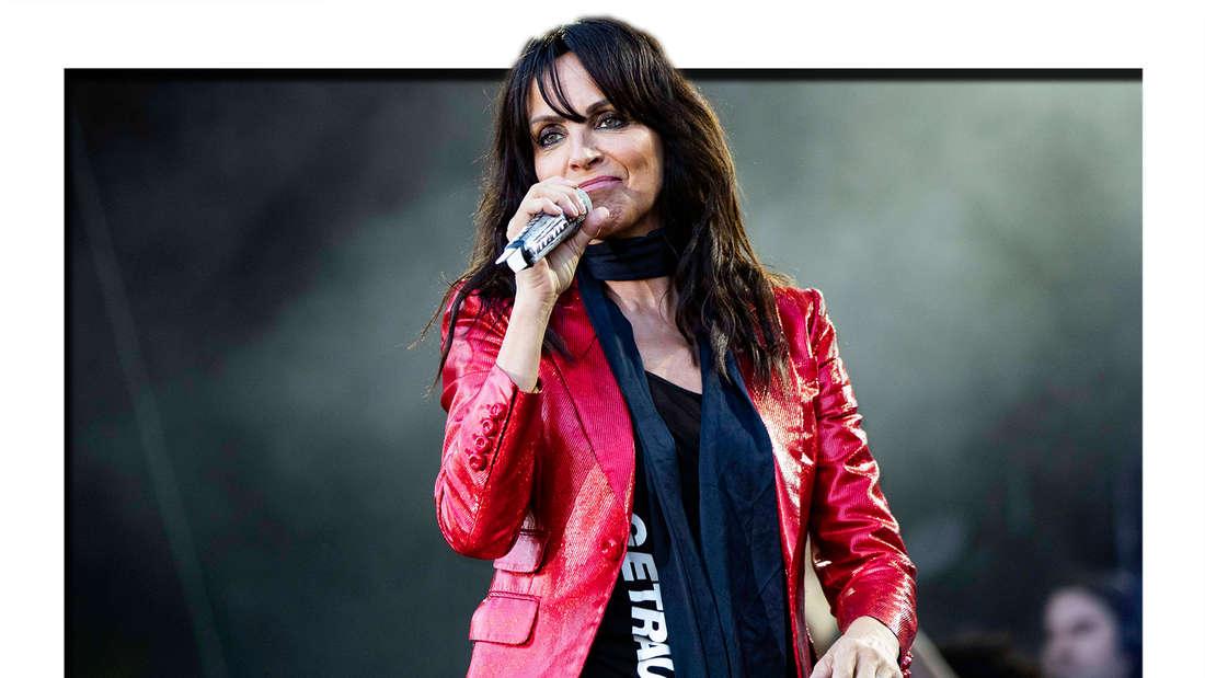 Nena live beim Sommer Open Air Picknickdecken Konzert im Steigerwaldstadion. Erfurt, 04.08.2020 (Fotomontage)