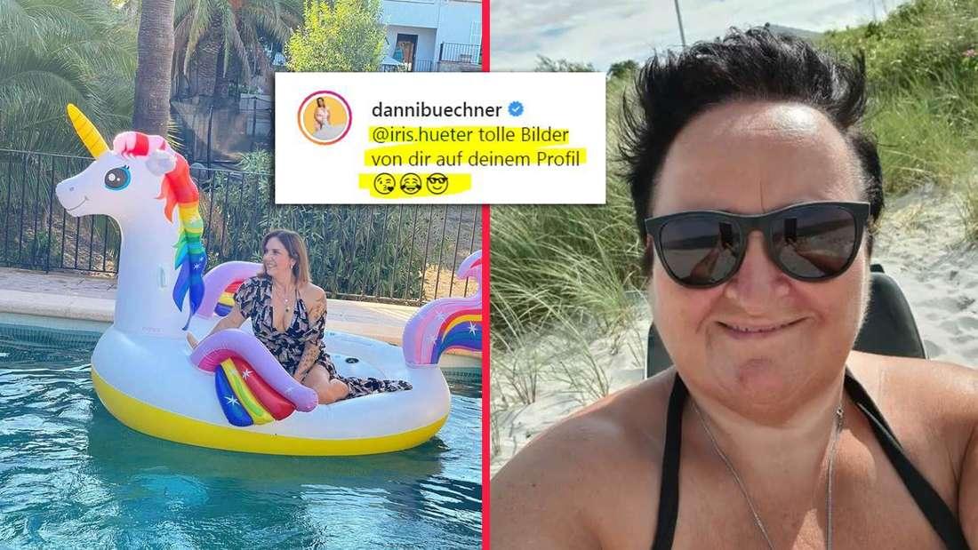 """Darf sie das? Nach einem kritischen Kommentar zu ihrem Poolbild stellt Danni Büchner eine Followerin bei Instagram öffentlich bloß mit den Worten: """"Tolle Bilder in deinem Profil""""."""