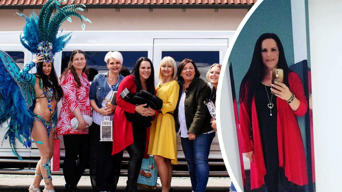 Fotomontage: Die sieben Kandidatinnen, rechts: Christa
