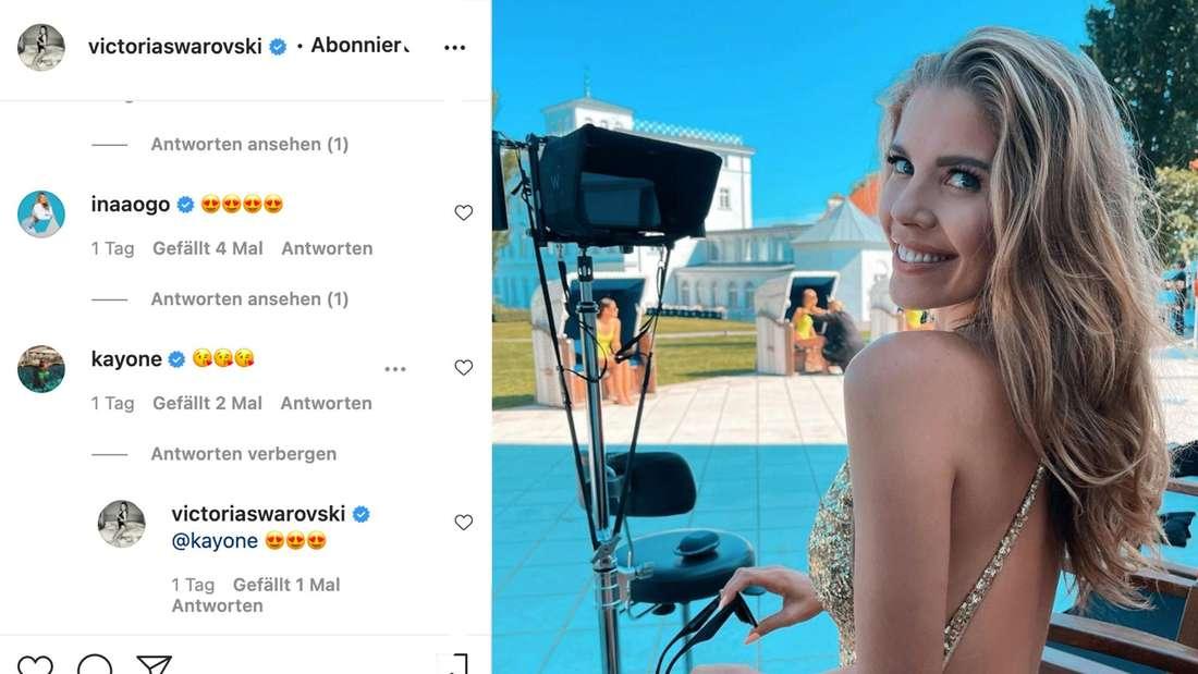 Victoria Swarovski im Glitzer-Badeanzug - nicht nur die Fans lieben diesen Anblick. (Fotomontage)