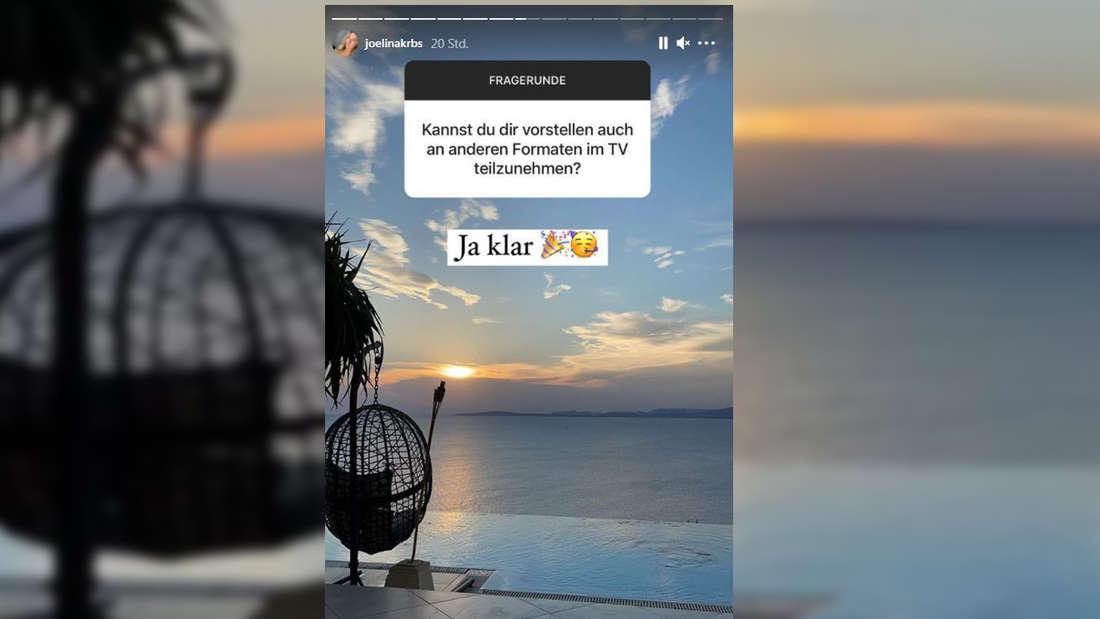 Screenshot aus der Instagramstory von Joelina Karabas