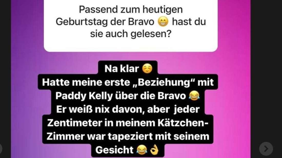 Daniela Katzenberger gesteht auf Instagram, dass sie in Michael Patrick Kelly verliebt war