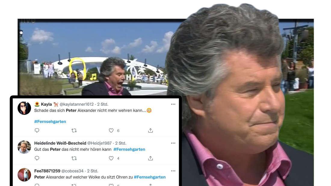 Andy Borg im ZDF Fernsehgarten mit Twitter Kommentaren