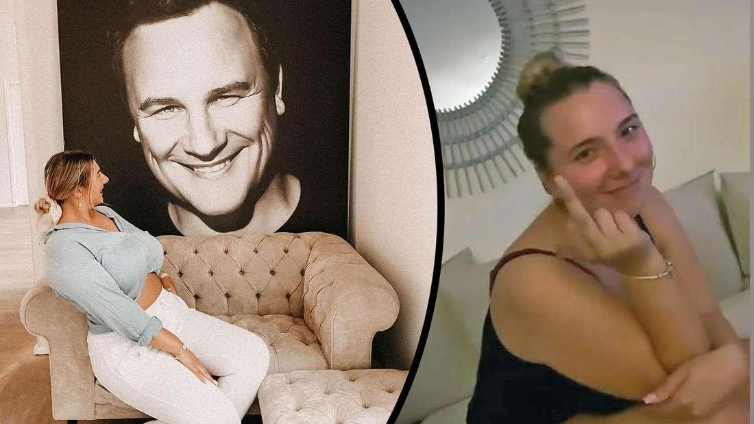 """Joelina Krebs gewann letzte Woche """"Shopping Queen"""" bei Vox mit Guido Maria Kretschmer. Doch im Netz bekam die Tochter von Danni Büchner viel Kritik. Die 22-Jährige reagiert nun mit dem Mittelfinger."""