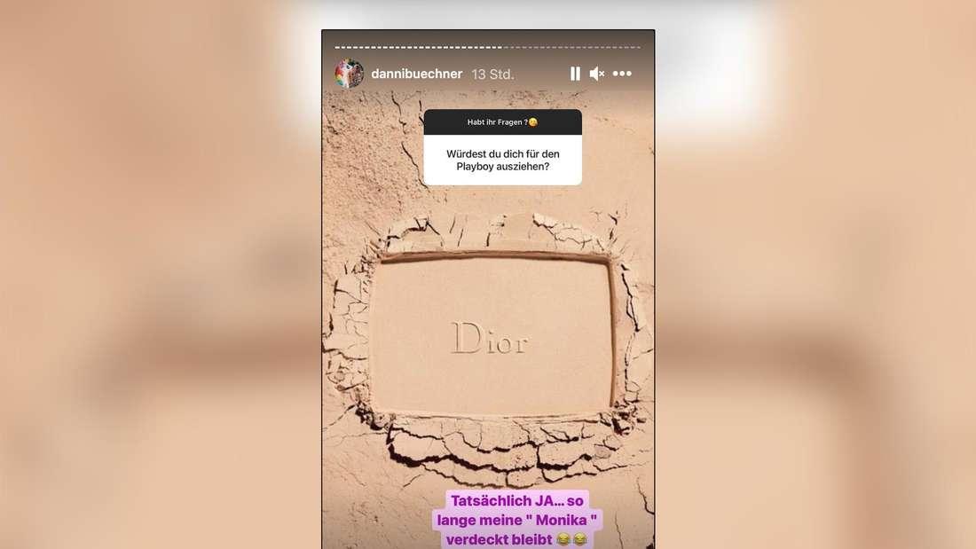 Danni Büchner positioniert sich auf Instagram klar: Würde der Playboy anfragen, wäre sie dabei.