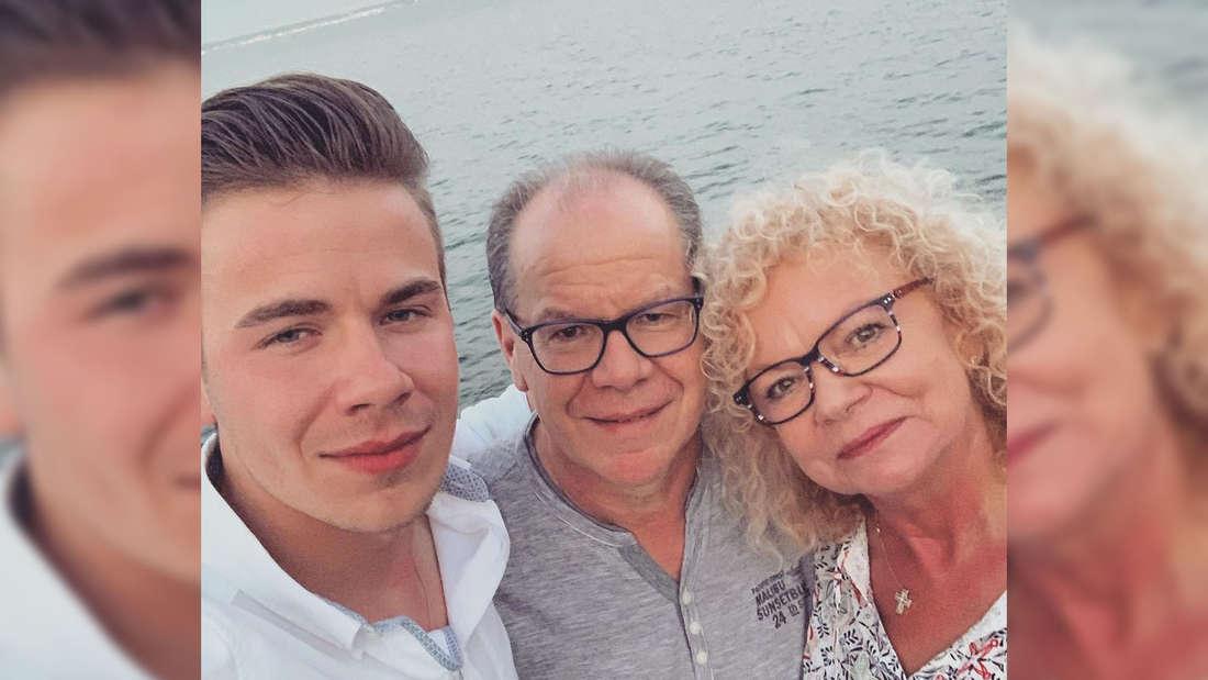 Schlager-Newcomer Eric Philippi mit seinen Eltern