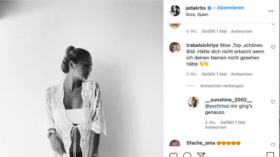 """""""Hätte dich nicht erkannt"""": Jada begeistert ihre Fans mit einem Strandlook."""